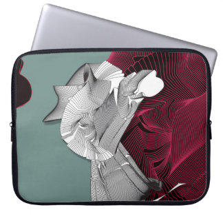Digital-Kunst-Zahl Laptop Sleeve