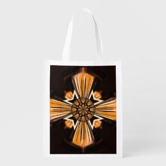 Digital-Kunstkreuz Wiederverwendbare Einkaufstasche
