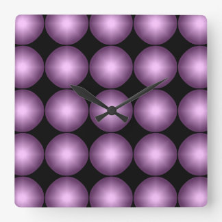 Digital-Lavendel-Tupfen Quadratische Wanduhr