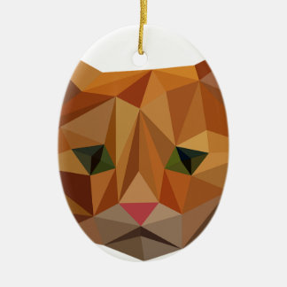 Digital-Miezekatze Ovales Keramik Ornament