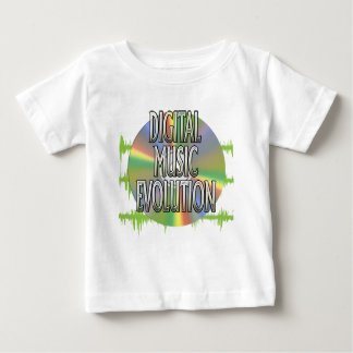 Digital-Musik-Evolutions-Baby-T-Stück Baby T-shirt