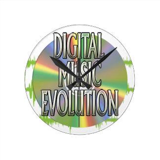 Digital-Musik-Evolutions-Uhr Runde Wanduhr