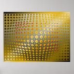 Digital OP-Kunst Sphäroidmagnetismus Posterdrucke