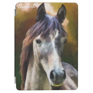 Digital-Pferdeporträt-Malereiname iPad Air Cover