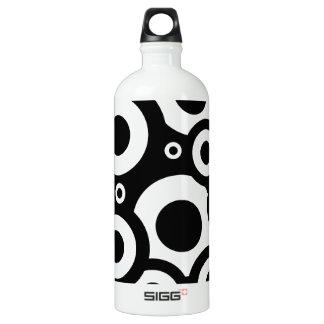 Digital-Radialfarbunschärfe-Glühen-Kunst-schönes Aluminiumwasserflasche