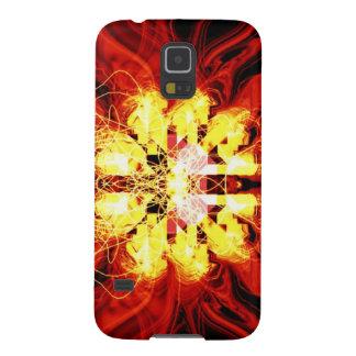 Digital-Radialfarbunschärfe-Glühen-Kunst-schönes Galaxy S5 Cover