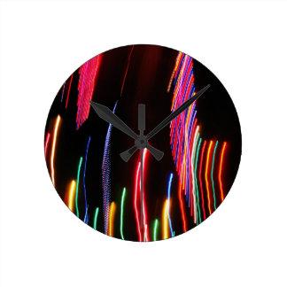 Digital-Radialfarbunschärfe-Glühen-Kunst-schönes Runde Wanduhr