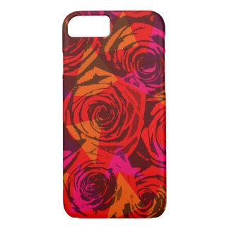 Digital-Rote Rosen iPhone 8/7 Hülle