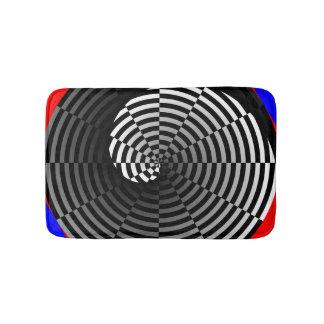 Digital-Schachbrett Yin Yang Badematte