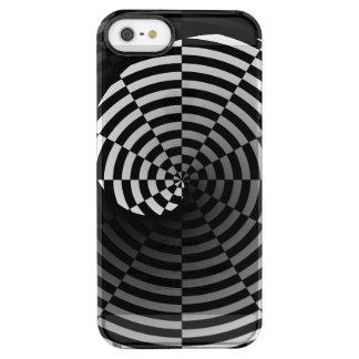 Digital-Schachbrett Yin Yang Durchsichtige iPhone SE/5/5s Hülle