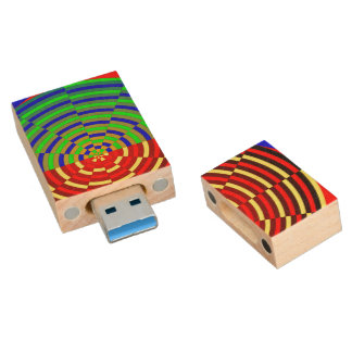 Digital-Sonnenuntergang Holz USB Stick