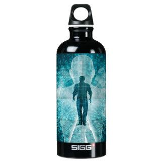 Digital-Umwandlung und Adoptieren der neuen Aluminiumwasserflasche