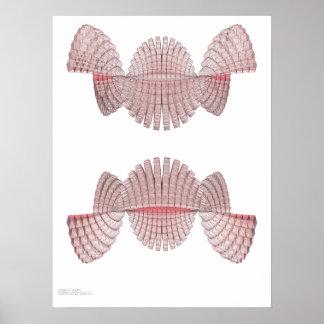 Digital-Welle - programmatischer Ausdruck Poster