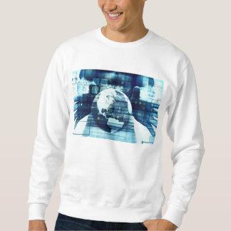 Digital-Welt und Technologie-Lebensstil-Industrie Sweatshirt