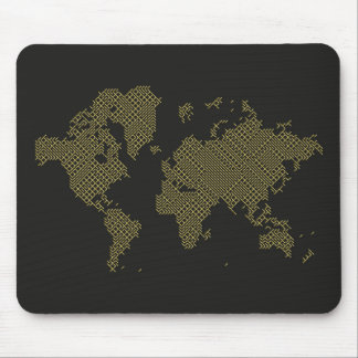 Digital-Weltkarte Mauspad