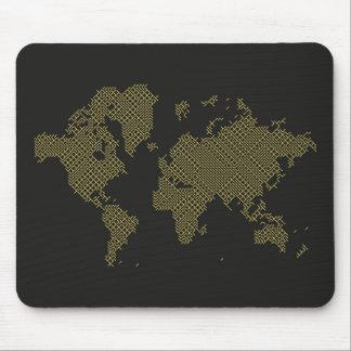 Digital-Weltkarte Mousepad