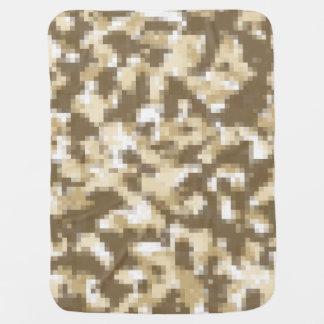 Digital-Wüsten-Camouflage Babydecke
