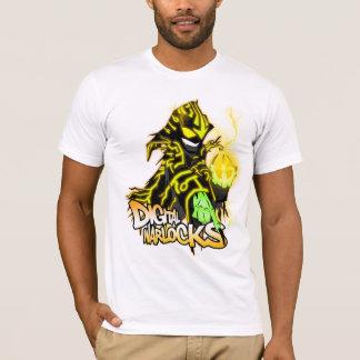 Digital-Zauberer-gelber Zauberer - grundlegender T-Shirt