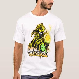 Digital-Zauberer-gelber Zauberer - grundlegender T T-Shirt