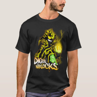 Digital-Zauberer-gelber Zauberer - grundlegendes T-Shirt