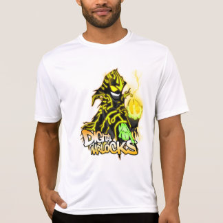 Digital-Zauberer-gelber Zauberer - Leistungs-MICR T-Shirt