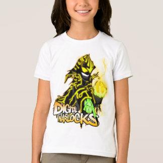 Digital-Zauberer-gelber Zauberer - Mädchen-Wecker T-Shirt