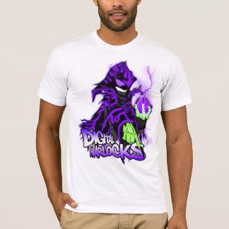 Digital-Zauberer-lila Zauberer - grundlegender T-Shirt