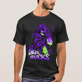 Digital-Zauberer-lila Zauberer - grundlegendes T-Shirt