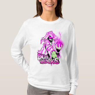 Digital-Zauberer rosa und weißer Zauberer - Damen T-Shirt