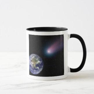 Digital-Zusammensetzung einer Kometenüberschrift Tasse