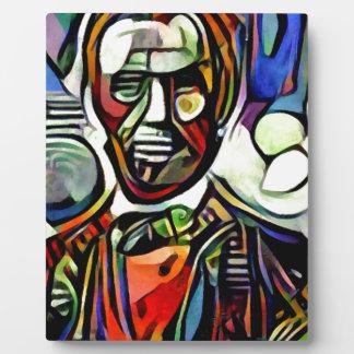 Digitale bunte Malerei Abraham Lincolns Fotoplatte