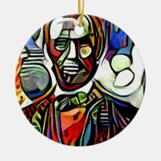Digitale bunte Malerei Abraham Lincolns Keramik Ornament