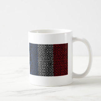 digitale Flagge Frankreich Kaffeetasse