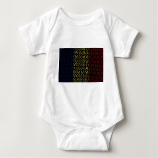 digitale Flagge (Tschad) Baby Strampler