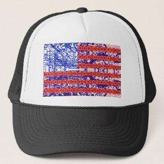 digitale Flagge (USA) u. Leiterplatte Truckerkappe