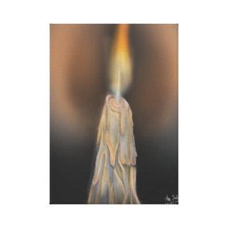 digitale Kerze Leinwanddruck