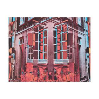 Digitale Kunst der roten blauen Leinwanddruck