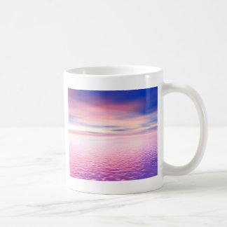 Digitale Kunst des Sonnenuntergangs Kaffeetasse