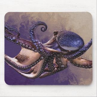 Digitale Malerei der lila Krake von der Mousepad