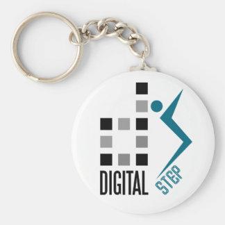 digitaler Schritt Schlüsselanhänger