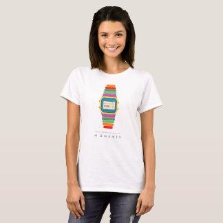 Digitaluhr-Pop-Kunst-T - Shirt der Zeit-| der