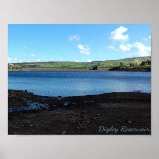 Digley Reservoir-Foto Poster