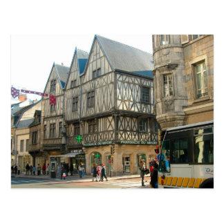 Dijon, Burgunder, Frankreich, mittelalterliche Postkarte