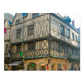 Dijon, mittelalterliches Gebäude benutzt als Postkarte