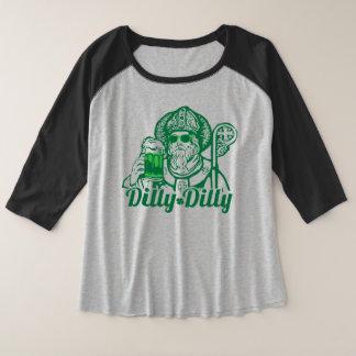 Dilly-St Patrick der Frauen der DillytagesShirt Große Größe Raglan T-Shirt