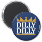 Dillydilly-Gold Runder Magnet 5,7 Cm