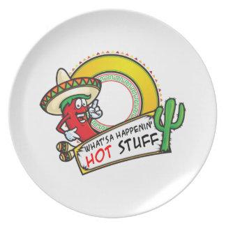 Dinges-würziger roter Pfeffer Mexiko Melaminteller