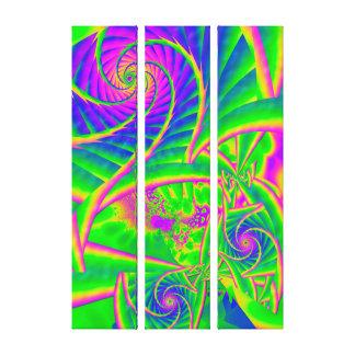 Dingleberries psychedelisches fixiertes Glas Leinwanddruck