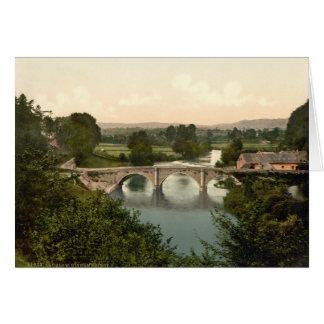 Dinham Brücke I, Ludlow, Shropshire, England Karte