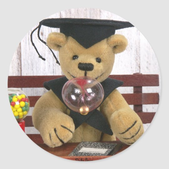 Dinky Bären: Abschluss Runder Aufkleber